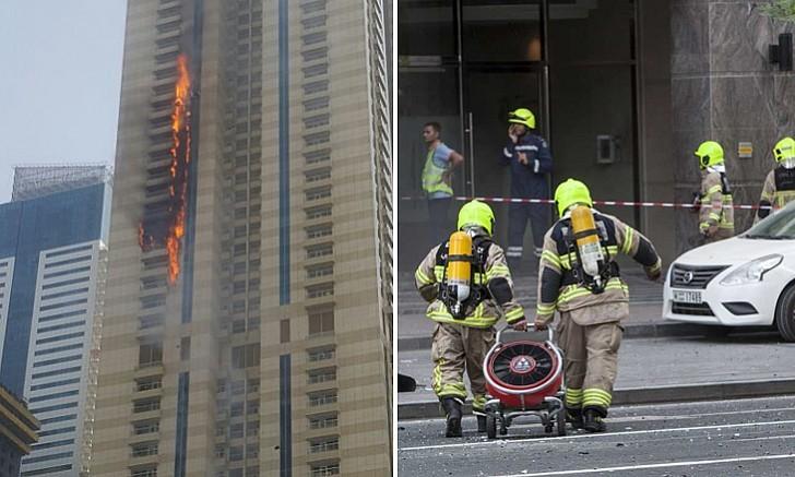 Tòa chung cư 75 tầng ở Dubai bốc cháy ngùn ngụt - ảnh 3
