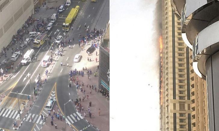 Tòa chung cư 75 tầng ở Dubai bốc cháy ngùn ngụt - ảnh 4