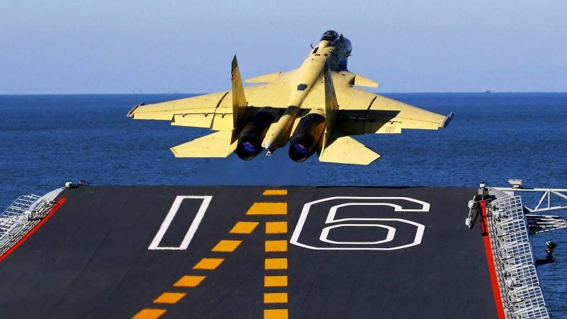 máy bay J-15 Trung Quốc rơi
