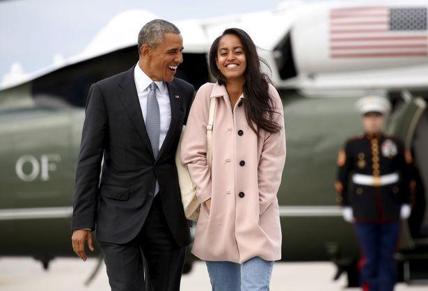 obama và con gái