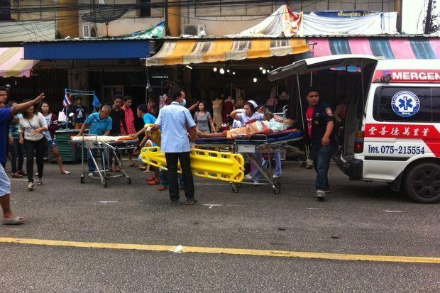 nổ bom ở phố đi bộ Thái Lan