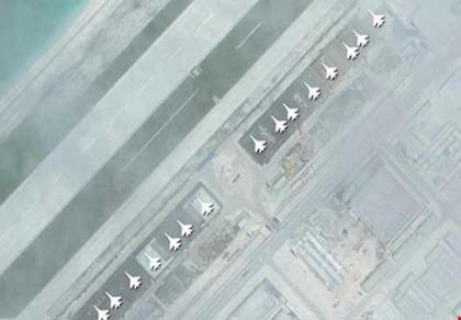TRung Quốc xây nhà để máy bay ở biển Đông