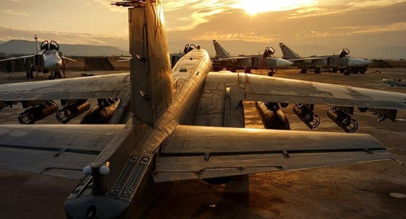Các máy bay Nga tại căn cứ Hmeymim ở Syria