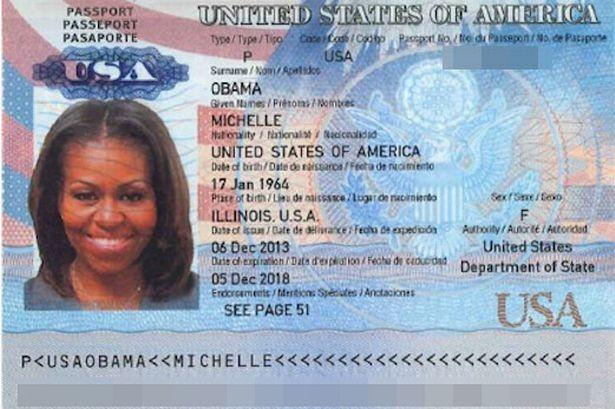 hộ chiếu của Michelle Obama