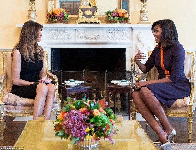 bà Obama gặp vợ Trump