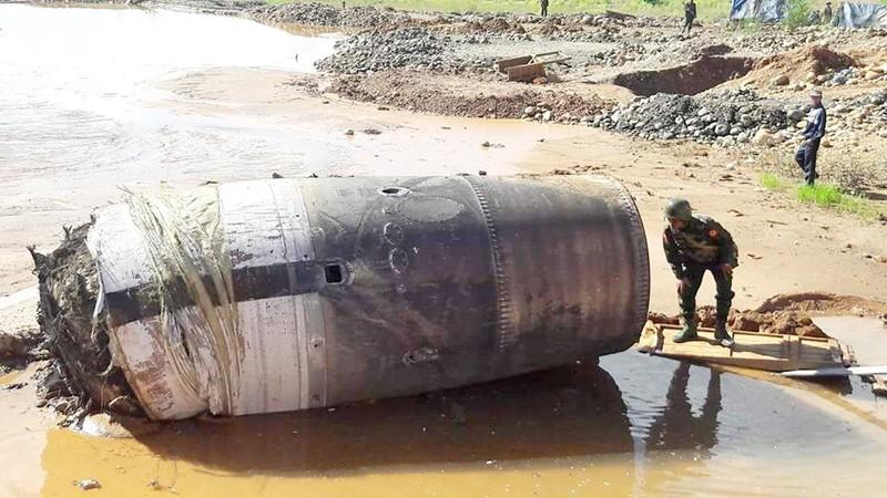Vật thể bí ẩn nghi của Trung Quốc rơi xuống Myanmar