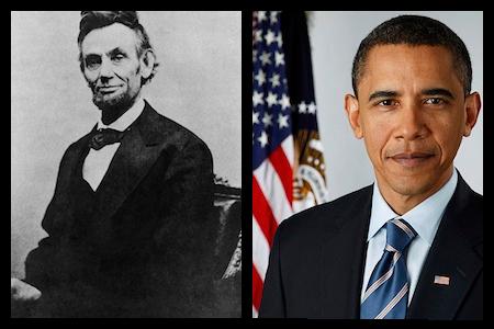 obama và lincoln
