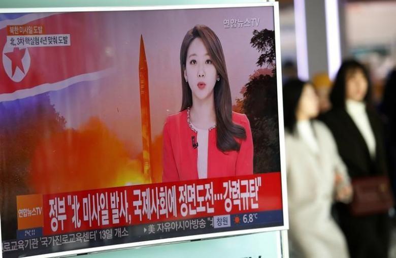 Mỹ, Nhật, Hàn đòi họp khẩn vụ Triều Tiên phóng tên lửa - ảnh 1