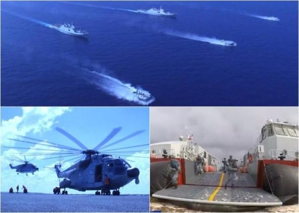 Trung Quốc ngang nhiên tập trận 'chiếm đảo' ở biển Đông - ảnh 1