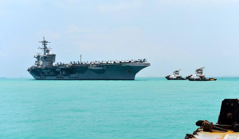 Tàu sân bay Mỹ, Trung cùng xuất hiện ở biển Đông - ảnh 1