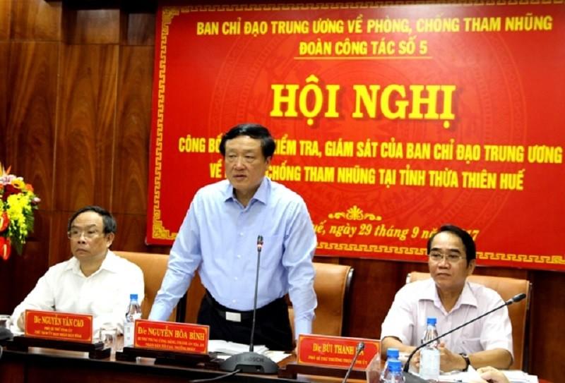Thừa Thiên-Huế: Kỷ luật 5 lãnh đạo để xảy ra tham nhũng - ảnh 1