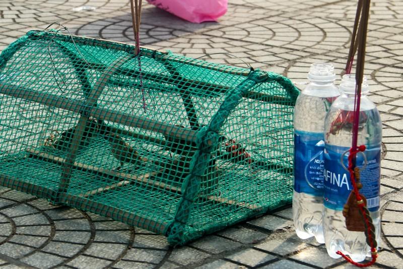 Thảnh thơi đi xin 'nước cam lồ' ở tượng đài Quan âm - ảnh 7