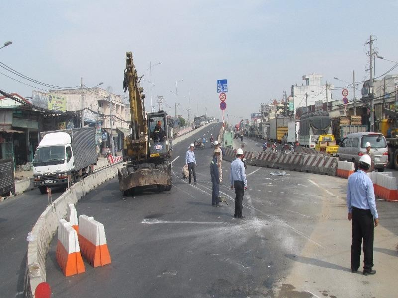 Chính thức thông xe một nhánh trên cầu vượt Gò Mây - ảnh 2