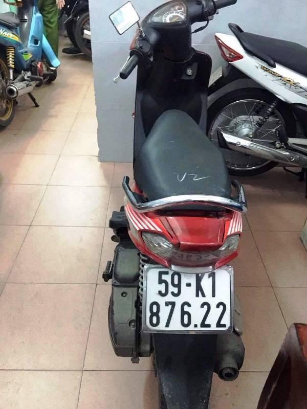 Chiếc xe máy do Nhân sử dụng để cướp giật