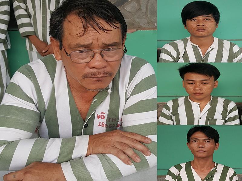 Các đối tượng trong vụ truy sát ở bệnh viện Quốc Ánh vừa bị công an bắt tạm giam.