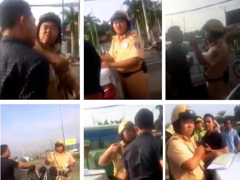 Cảnh sát giao thông Rạch Chiếc đánh người