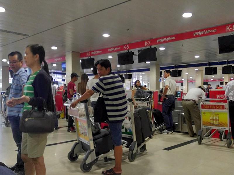 Sáng nay tại Sân bay Tân Sơn Nhất, mọi hoạt động đã trở lại gần như bình thường