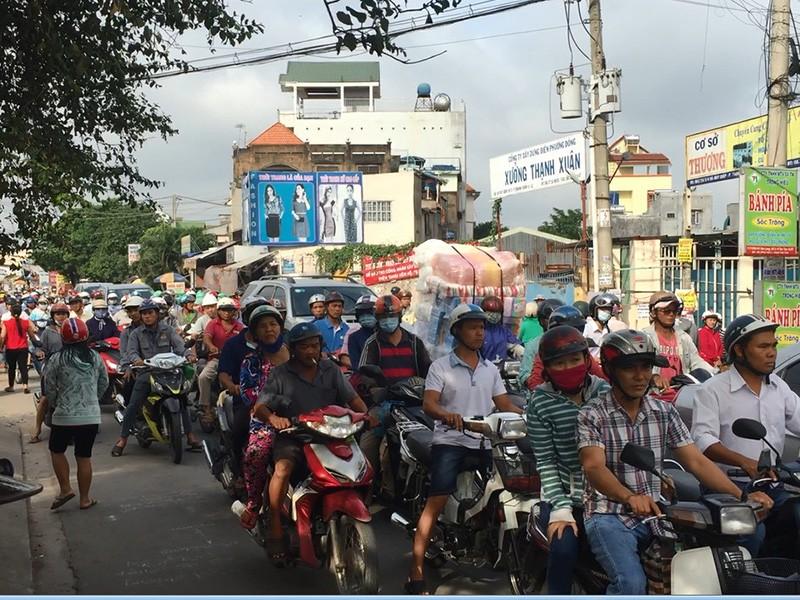 Vụ việc khiến giao thông qua khu vực gặp khó khăn