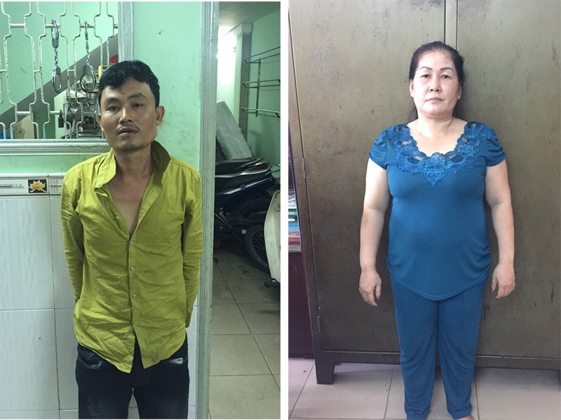Cường và Mai bị công an bắt giữ để điều tra về hành vi trộm cắp tài sản.