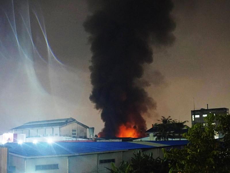 Toàn cảnh vụ cháy dữ dội trong KCN Tân Bình  - ảnh 1