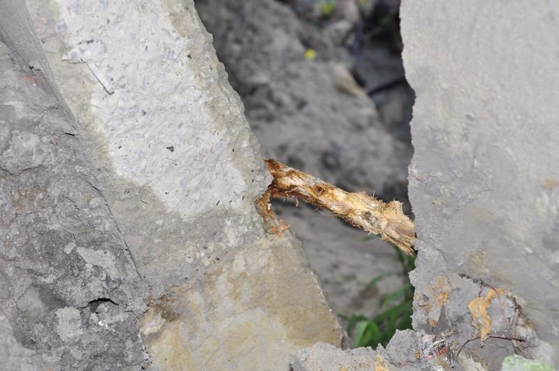 Mưa lớn, cầu Xóm Mai hỏng bờ kè, trơ lõi gỗ - ảnh 2