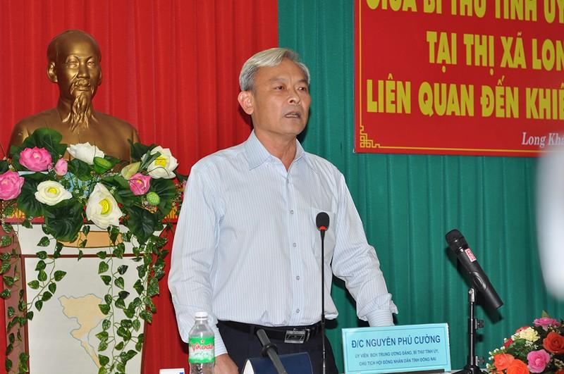 Bí thư Tỉnh ủy Nguyễn Phú Cường tại buổi hòa giải