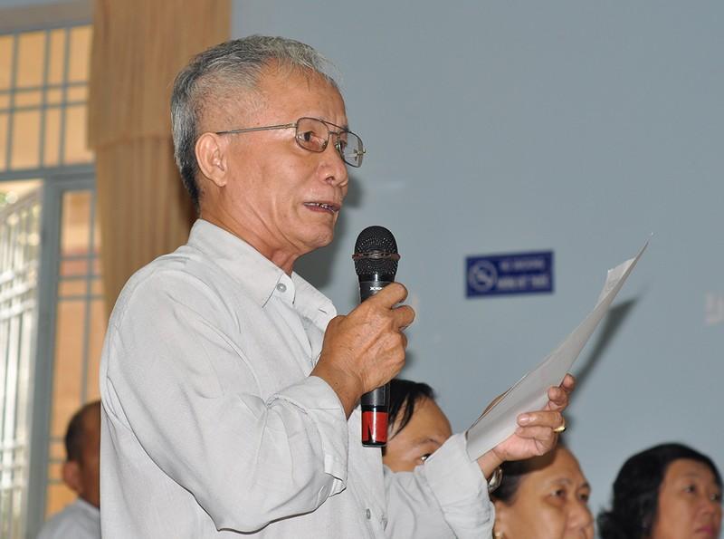 Ông Lộc tại buổi đối thoại