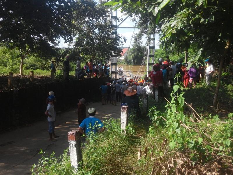 Sập cầu treo, 4 người rơi xuống sông Đồng Nai - ảnh 2