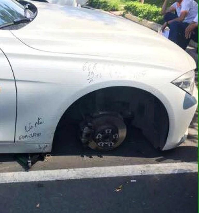 Biên Hòa: Liên tiếp xảy ra nhiều vụ trộm bánh xe ô tô - ảnh 1