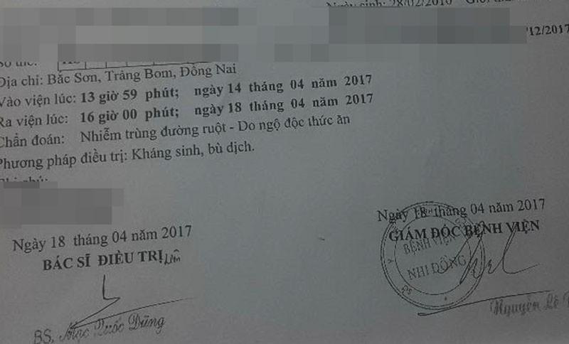 Phụ huynh tố trường ở Đồng Nai giấu 1 vụ ngộ độc  - ảnh 2