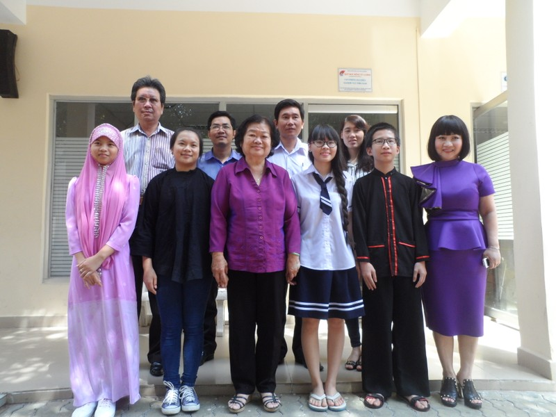 Nguyên Phó chủ tịch nước Trương Mỹ Hoa gặp gỡ học sinh ươm mầm tương lai - ảnh 1