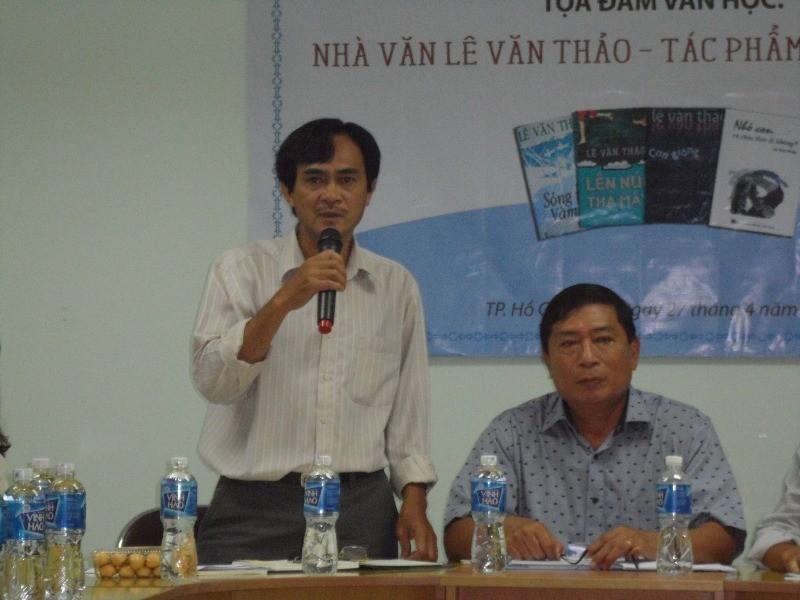 Nhà văn Lê Văn Thảo vắng mặt trong buổi tọa đàm văn học về mình - ảnh 3