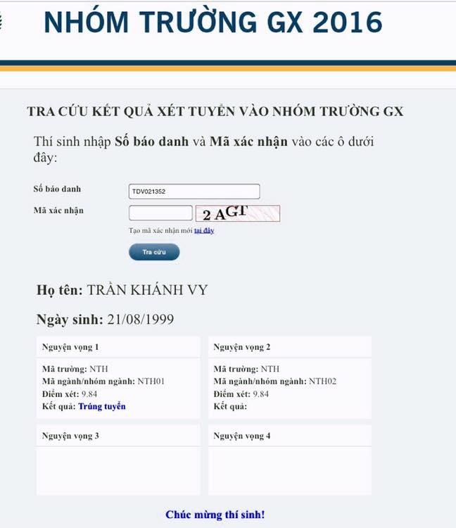Trần Khánh Vy chính thức trúng tuyển Đại học Ngoại thương Hà Nội