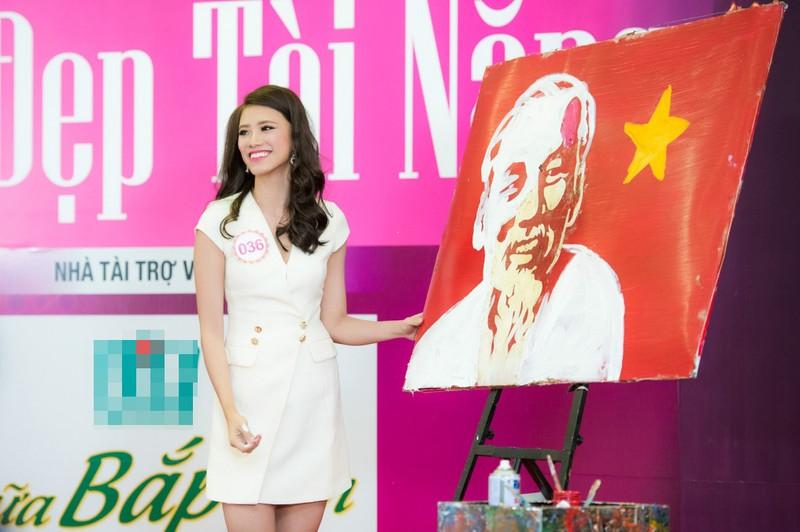 Thí sinh Nguyễn Huỳnh Kim Duyên gây bất ngờ với bức tranh lửa - ảnh 1