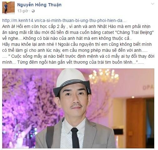 Nghệ sĩ và cộng đồng mạng mong phép màu đến với ca sĩ Minh Thuận - ảnh 1
