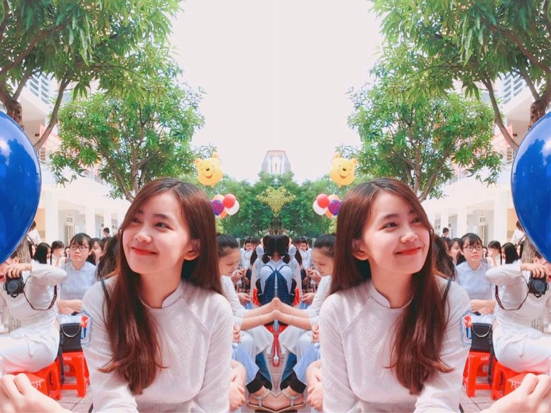 Ngắm hoa khôi Quốc học Vinh xinh 'quá mức cho phép' - ảnh 9