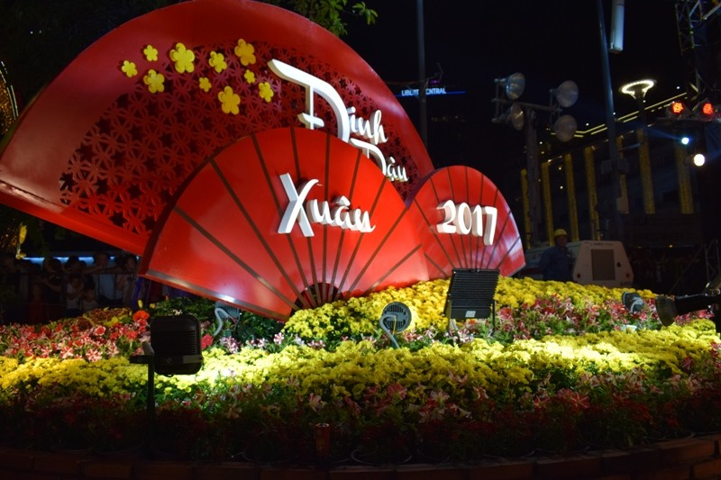Chùm ảnh: Dân nô nức về đường hoa Nguyễn Huệ  - ảnh 7