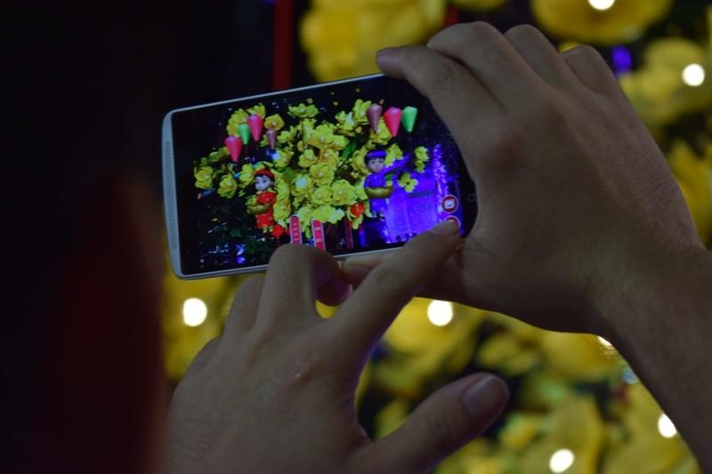 Chùm ảnh: Dân nô nức về đường hoa Nguyễn Huệ  - ảnh 2