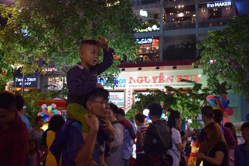 Dân nô nức về đường hoa Nguyễn Huệ ngay đêm khai mạc - ảnh 8