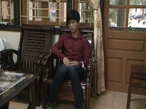 Đối tượng Lý Văn Chúc sau khi bị bắt giữ.