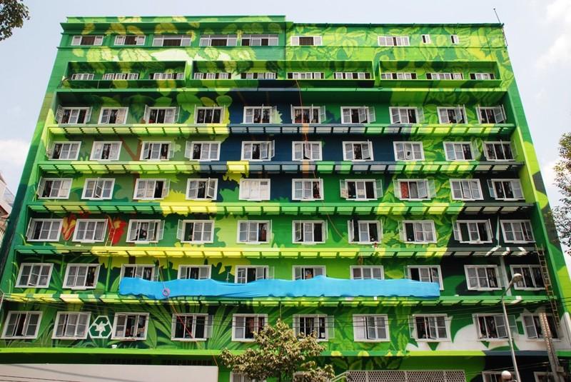 Đẹp lạ của ký túc xá xanh giữa lòng Sài Gòn - ảnh 1