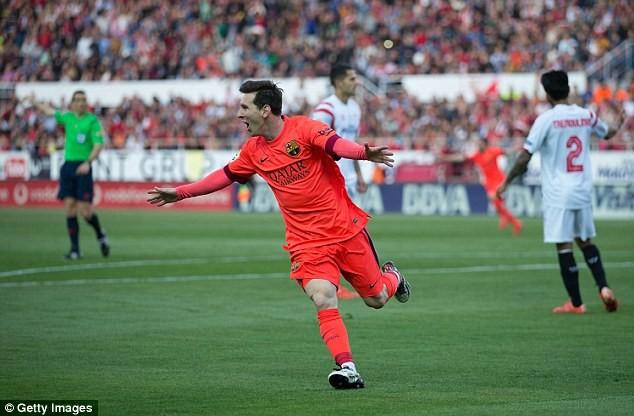 Messi mở tỷ số cho Barcelona từ khá sớm