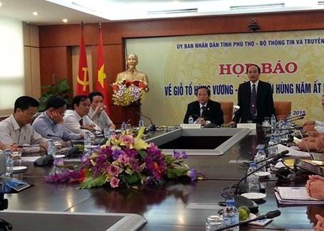 Ông Hà Kế San - Phó Chủ tịch UBND tỉnh Phú Thọ - thông tin tổ chức Lễ hội Đền Hùng năm nay