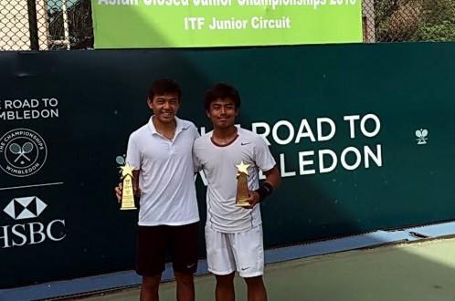 Hoàng Nam vô địch đôi Giải quần vợt Asian Closed Junior - ảnh 1