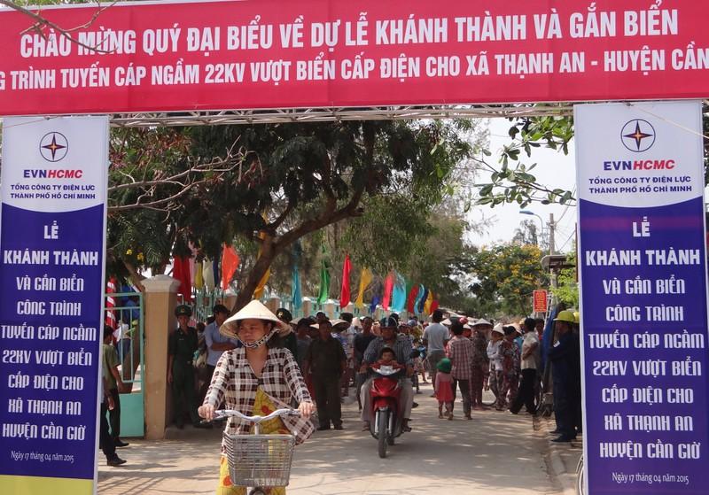 Xã đảo độc nhất Sài Gòn đón nguồn điện xuyên biển - ảnh 1