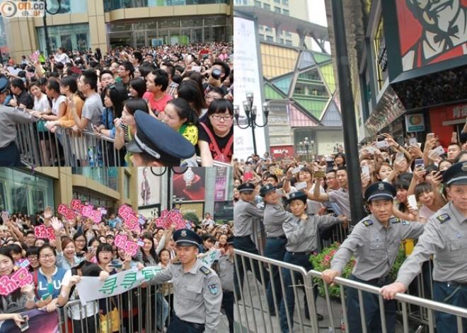 Cảnh tượng hỗn loạn xảy ra tại Trùng Khánh (Trung Quốc) vì sự hiện diện của Dương Mịch.