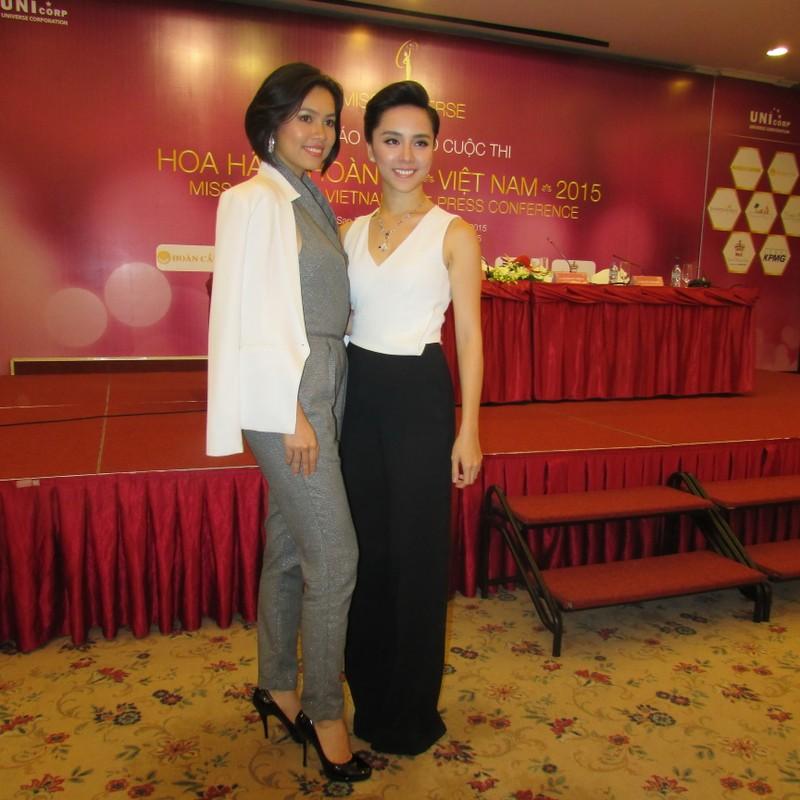 Dàn hoa hậu, á hậu khoe sắc tại Lễ công bố cuộc thi Hoa hậu Hoàn vũ 2015  - ảnh 1