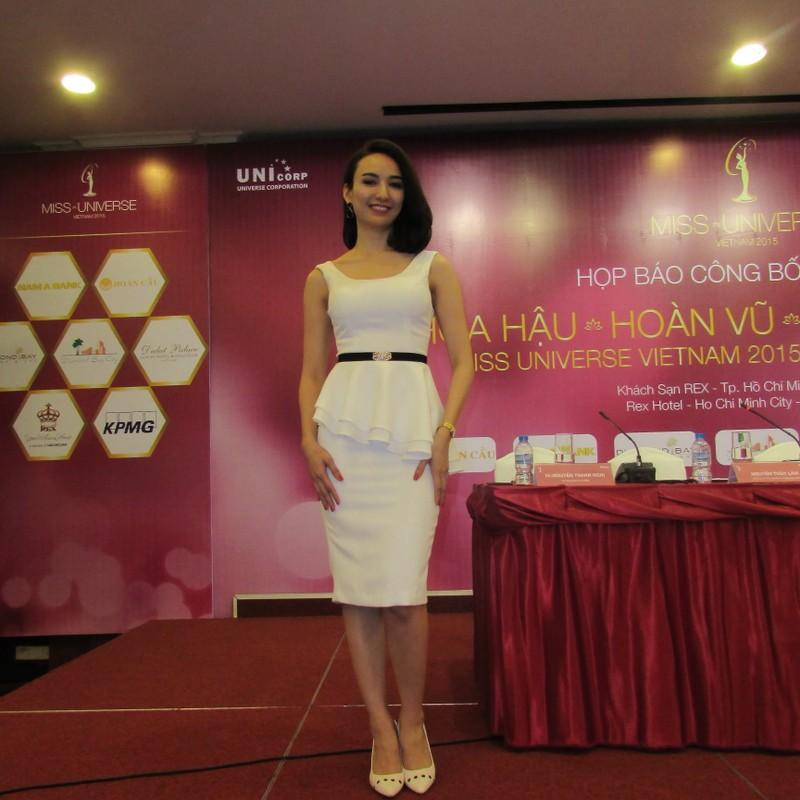 Dàn hoa hậu, á hậu khoe sắc tại Lễ công bố cuộc thi Hoa hậu Hoàn vũ 2015  - ảnh 3