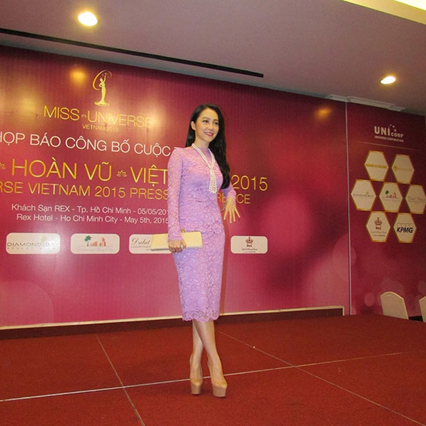 Dàn hoa hậu, á hậu khoe sắc tại Lễ công bố cuộc thi Hoa hậu Hoàn vũ 2015  - ảnh 5