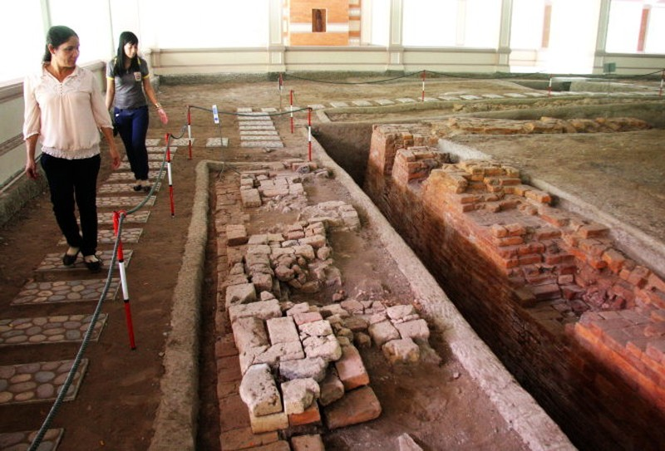 Một góc khu di tích Gò Minh Sư đã được khai quật - Ảnh: V.Tr.